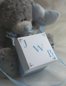 christening favour box boy