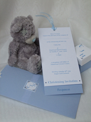 wallet christening invitation