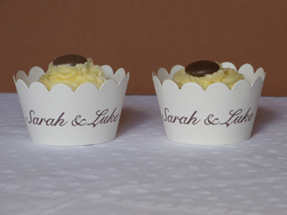 Cupcake sleeves with names