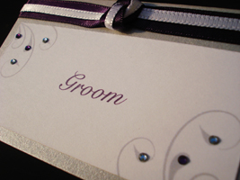 tie place card